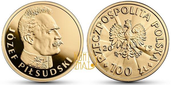 100 złotych Józef Piłsudski, Stulecie odzyskania przez Polskę niepodległości (inauguracja serii))
