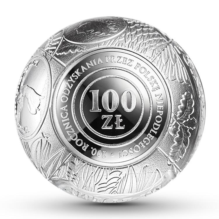 1 zł Au, 100 zł kula, 2018 zł kula 100. rocznica odzyskania przez Polskę niepodległości