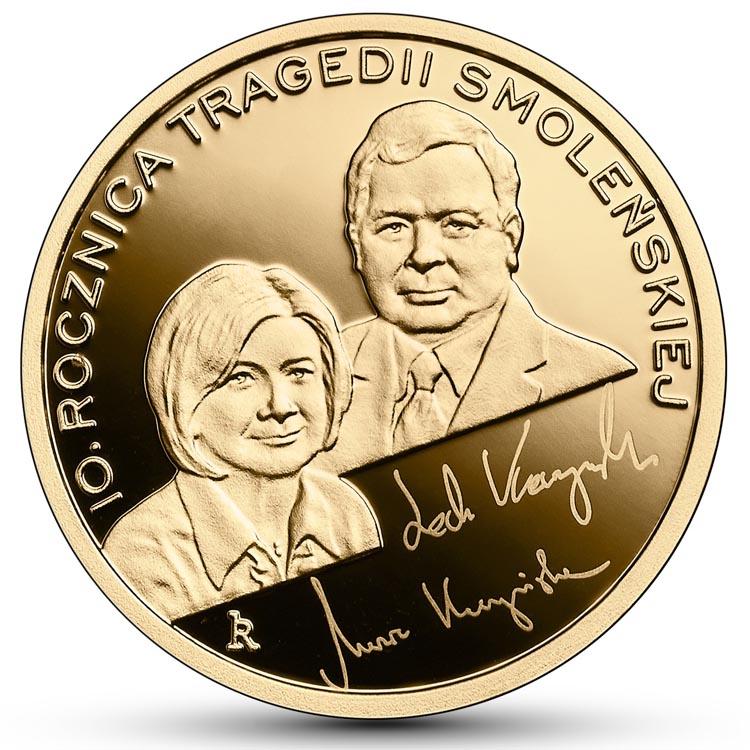 100 zł 2020 r. - 10. rocznica tragedii smoleńskiej