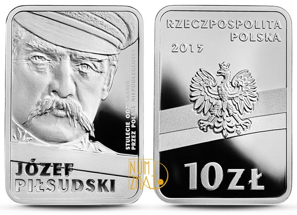 10 złotych Józef Piłsudski, Stulecie odzyskania przez Polskę niepodległości (inauguracja serii))