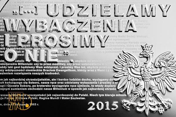 10 zł 2015 50. rocznica wystosowania orędzia biskupów polskich do niemieckich (temat indywidualny)