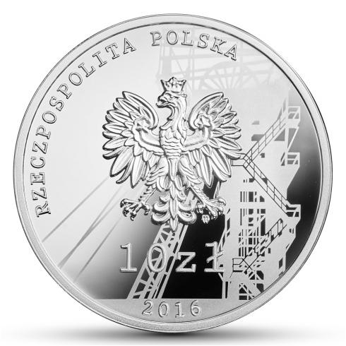 """10 złotych 35. rocznica pacyfikacji kopalni """"Wujek"""""""