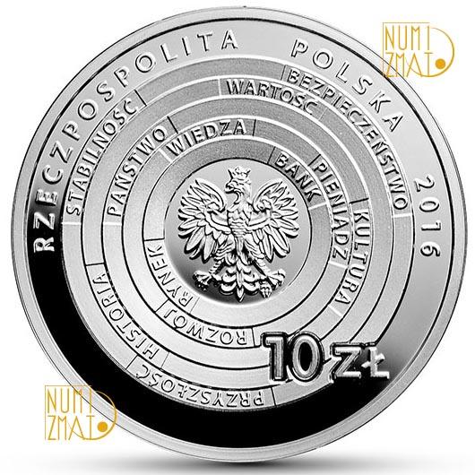 Moneta 10 złotych Centrum Pieniądza NBP im. Sławomira S. Skrzypka