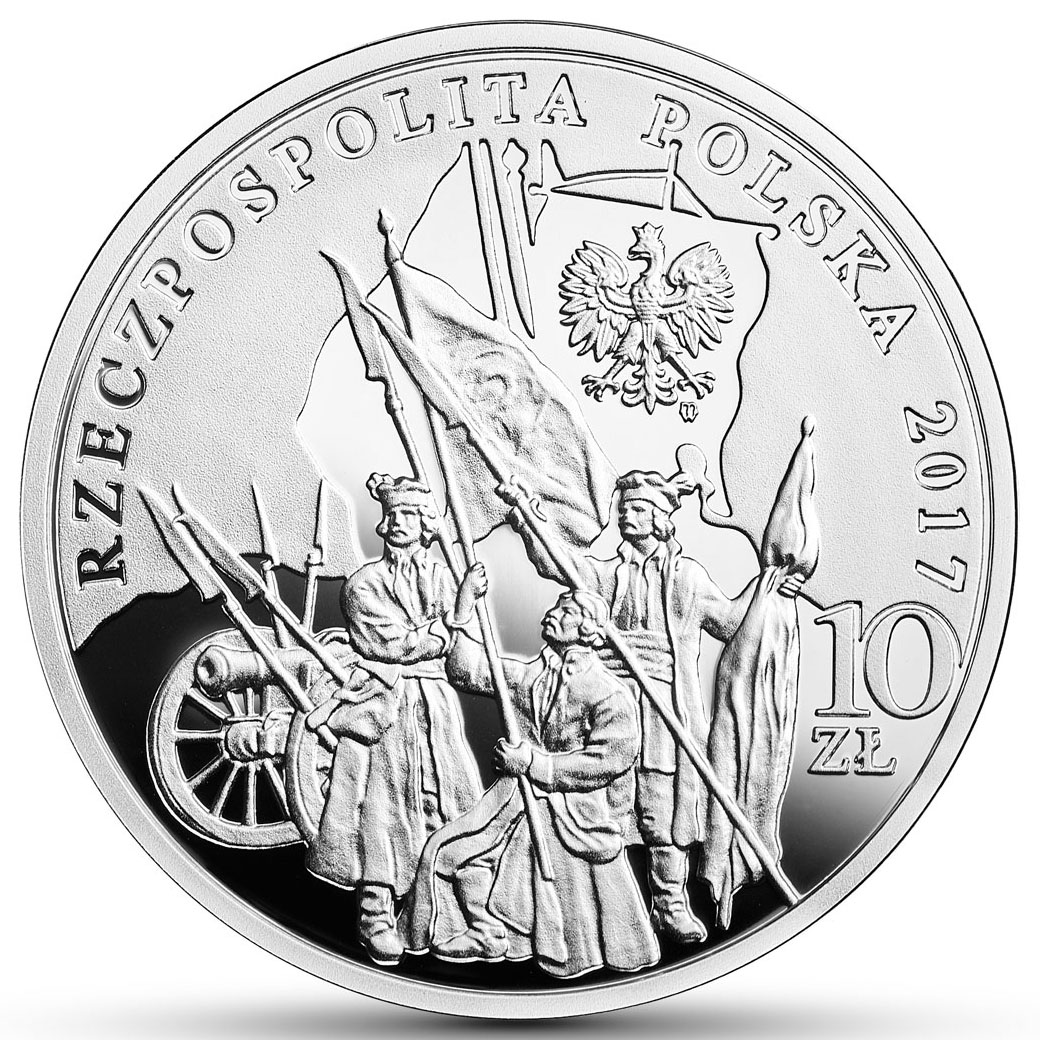 10 zł 2017 r. - 200. rocznica śmierci Tadeusza Kościuszki