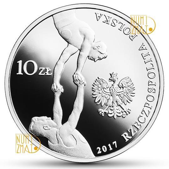 10 zł 150. rocznica powstania Towarzystwa Gimnastycznego Sokół