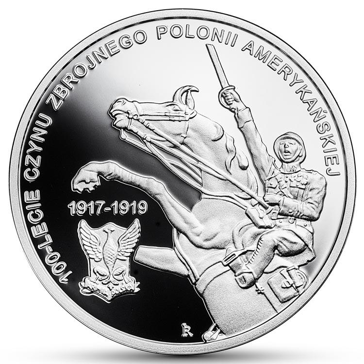 10 złotych 2018 100-lecie czynu zbrojnego Polonii amerykańskiej