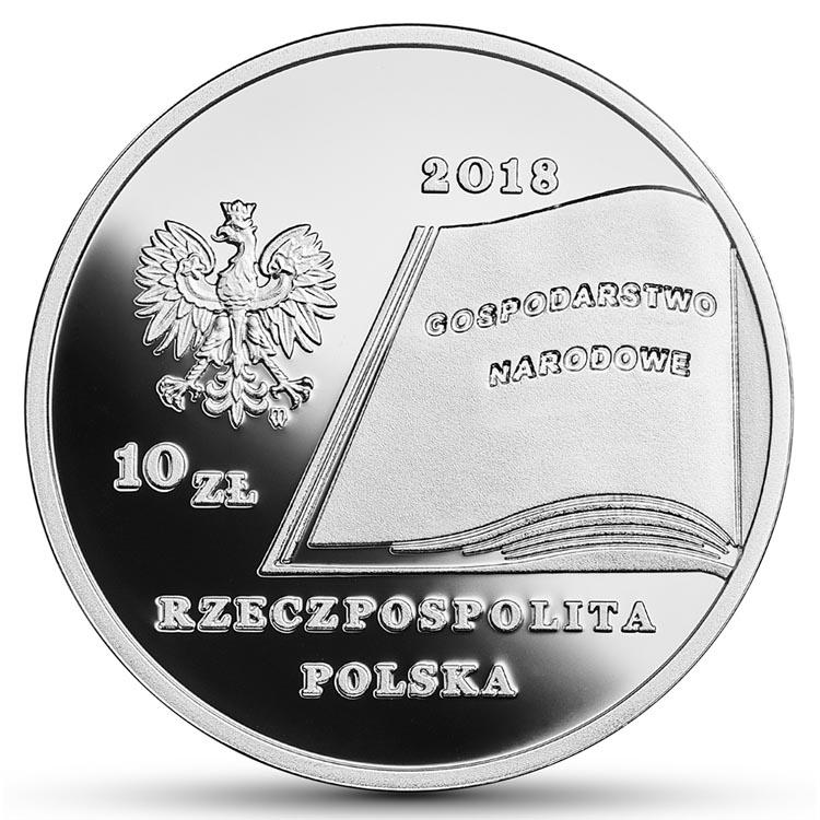 10 złotych 2018 Fryderyk Skarbek Wielcy polscy ekonomiści