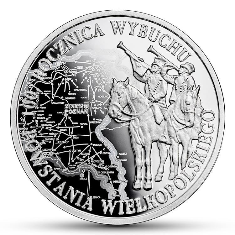 10 złotych 2018 100. rocznica wybuchu Powstania Wielkopolskiego (temat indywidualny)