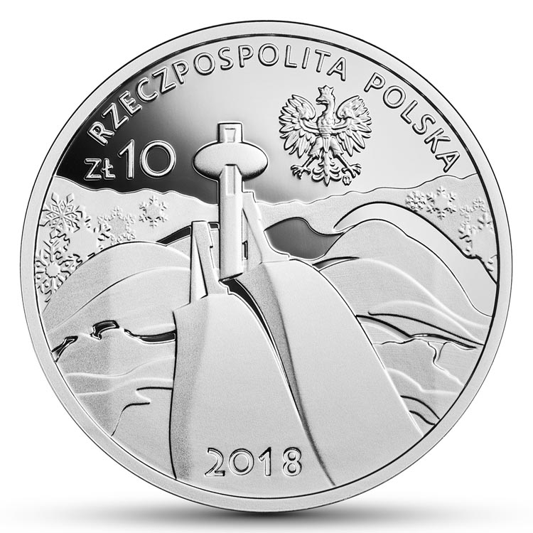 10 zł 2018 r. - Polska Reprezentacja Olimpijska PyeongChang 2018