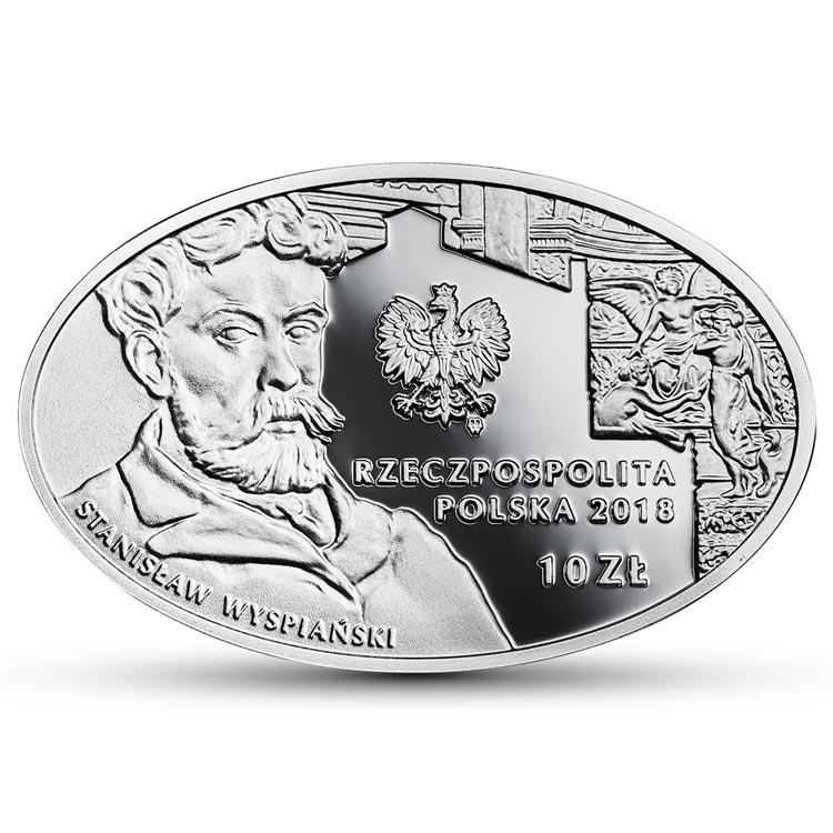 10 złotych 2018 125-lecie działalności Teatru im. Juliusza Słowackiego w Krakowie