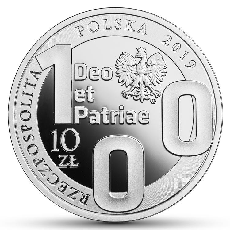 10 zł 2019 r. - 100-lecie Katolickiego Uniwersytetu Lubelskiego KUL