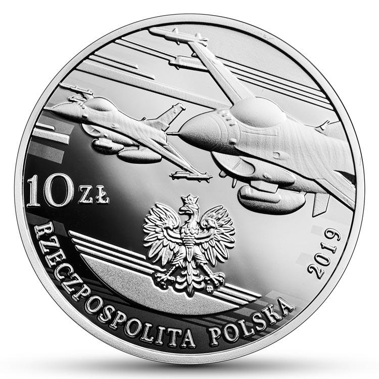 10 zł 2019 r. 100-lecie polskiego lotnictwa wojskowego