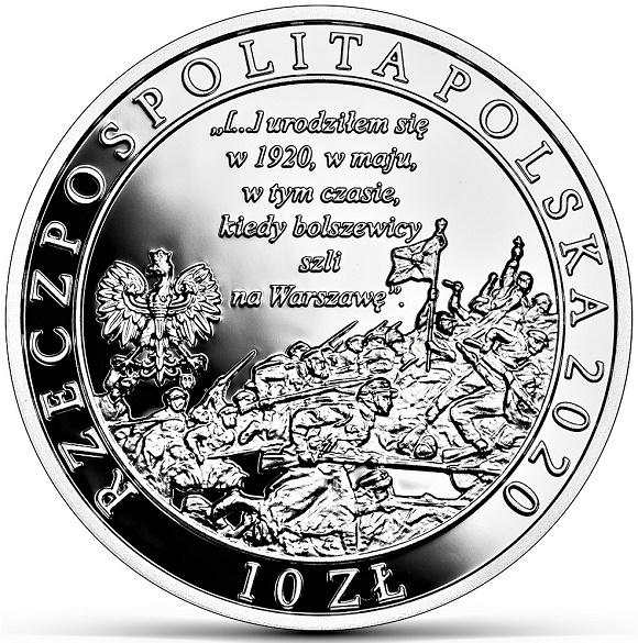 10 złotych 2020 r. - 100. rocznica urodzin Świętego Jana Pawła II (14,14 g), (temat indywidualny)