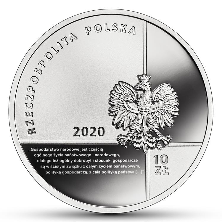 10 zł 2020 r. - Stanisław Głąbiński - Wielcy polscy ekonomiści (4)