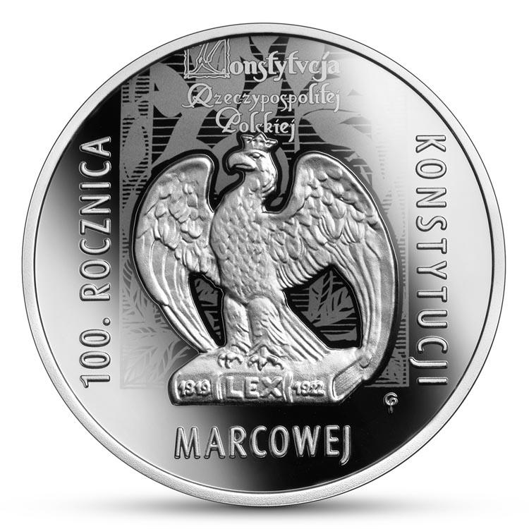 10 złotych 2021 r. 100. rocznica Konstytucji marcowej (temat indywidualny)