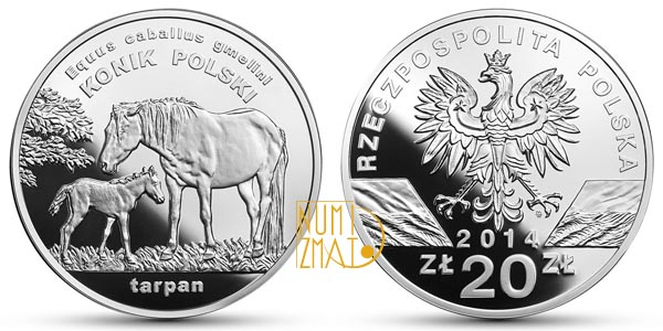 Zwierzęta Świata – konik polski 20 złotych