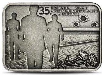 20 zł 2017 35. rocznica zrywu wolnościowego w Lubinie