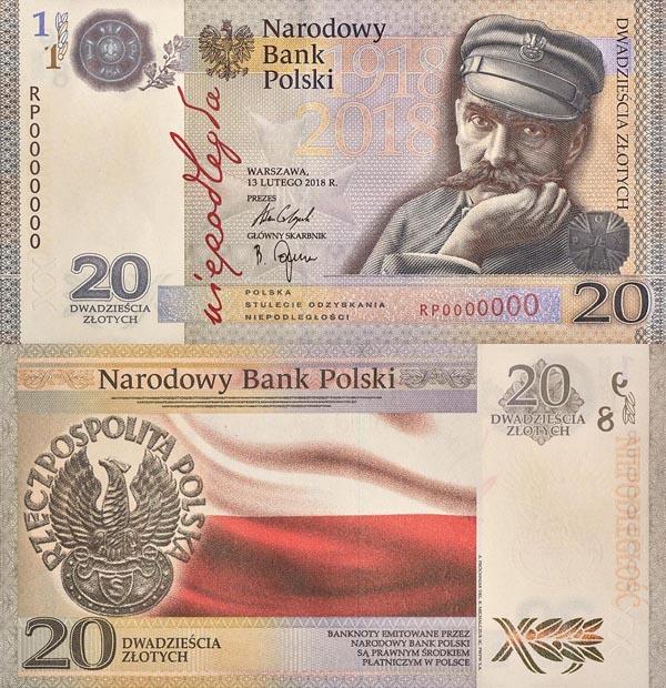 20 zł 2018 r. - Niepodległość - banknot kolekcjonerski
