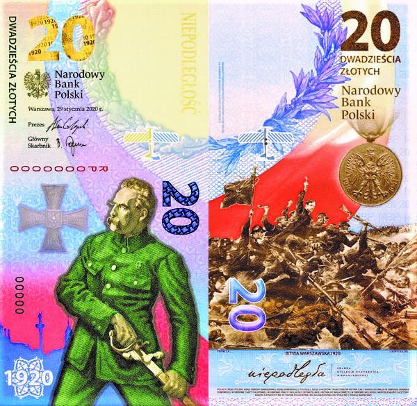20 złotych 2020 Bitwa Warszawska 1920 banknot (kontynuacja serii)