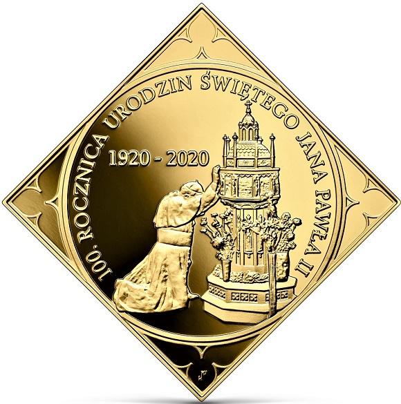 500 złotych 2020 r. - 100. rocznica urodzin Świętego Jana Pawła II, (temat indywidualny)