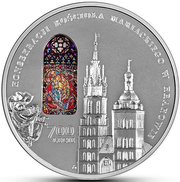50 zł 2020 r. - 700-lecie konsekracji kościoła Mariackiego w Krakowie