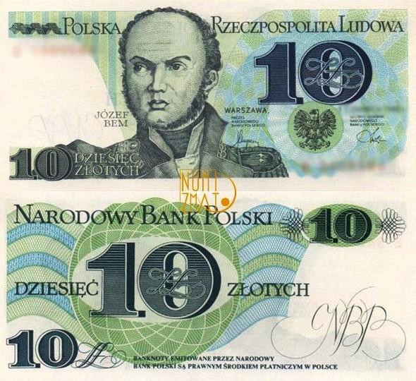 Banknot 10 zł 1982 BEM dziesięć złotych UNC
