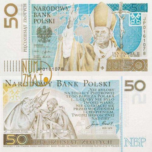 50 zł 2006 r. banknot - Jan Paweł II