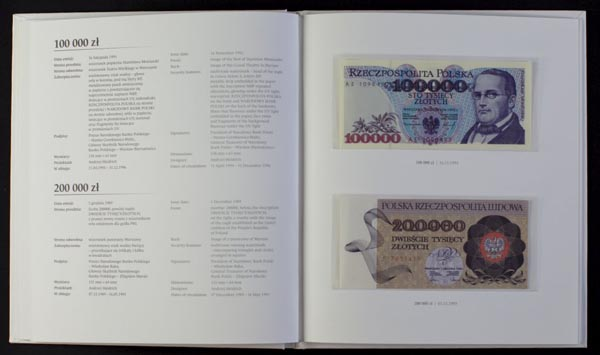 Zestaw banknotów PRL w tym nietypowe i unikalne banknoty 1975-1996