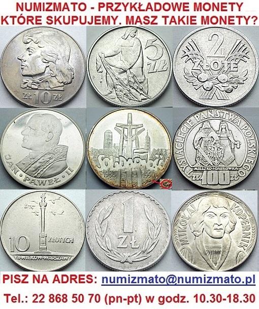 Skup monet PRL i III RP przed denominacją