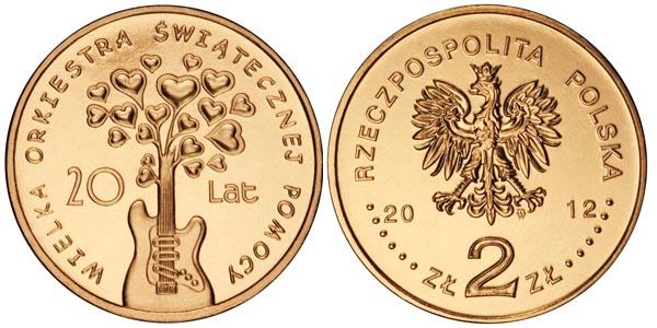 Skup monet 2 zł złote NG / nordic gold