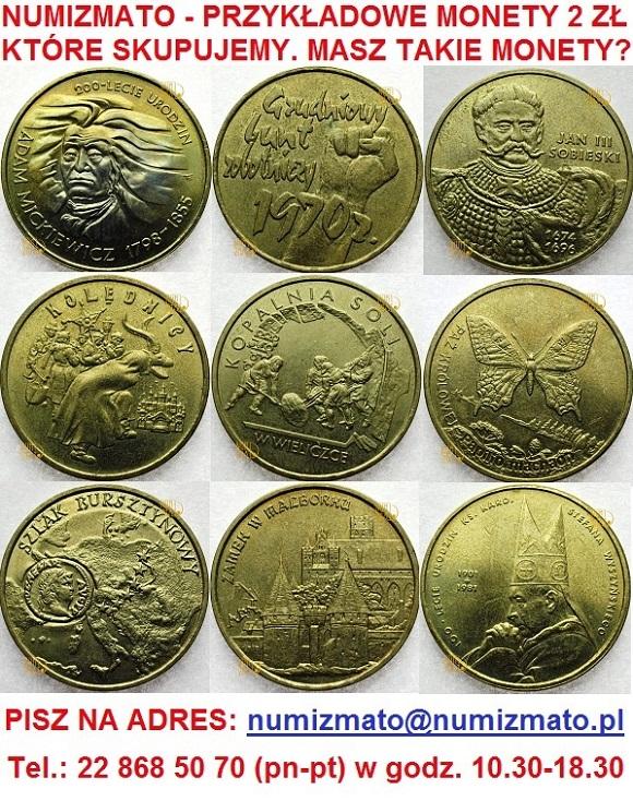 Skup monet okolicznościowych 2 zł NG NBP