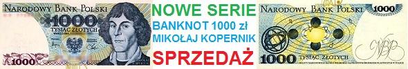 Banknot 1000 zł Mikołaj Kopernik 1982, nowe serie: EH, EZ, GR, KC