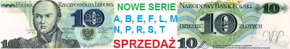 10 zł 1982 r nowe serie: A, B, E, F, L, M, N, P, R, S, T