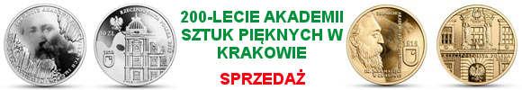 10 i 200 złotych 200-lecie Akademii Sztuk Pięknych im. Jana Matejki w Krakowie  (temat indywidualny))