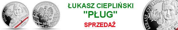 """10 złotych 10 złotych 2019 Łukasz Ciepliński """"Pług"""" Wyklęci przez komunistów żołnierze niezłomni"""