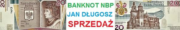 20 zł 2015 r. Jan Długosz - banknot