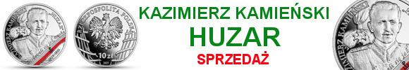 10 złotych 2021 Kazimierz Kamieński Huzar Wyklęci przez komunistów żołnierze niezłomni