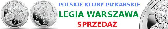 5 zł Polskie Kluby Piłkarskie – Legia Warszawa (kontynuacja serii)