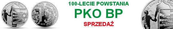 10 zł 100-lecie powstania PKO Banku Polskiego (temat indywidualny)