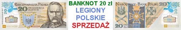100. rocznica utworzenia Legionów Polskich banknot 20 zł 2014 r