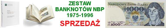 Polskie banknoty obiegowe z lat 1975-1996 - zestaw PRL