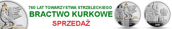 10 złotych 2018 760-lecie Towarzystwa Strzeleckiego Bractwo Kurkowe w Krakowie (temat indywidualny)