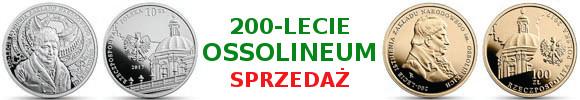 10 złotych, 100 złotych 200-lecie istnienia Zakładu Narodowego im. Ossolińskich