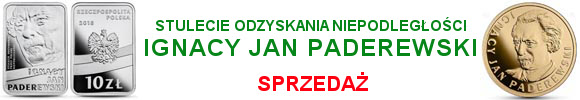 Stulecie odzyskania przez Polskę niepodległości – Ignacy Jan Paderewski 10 zł, 100 złotych